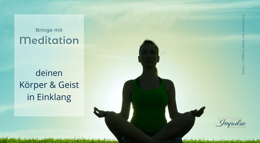 Frau, die durch Meditation Körper & Geist in Einklang bringt