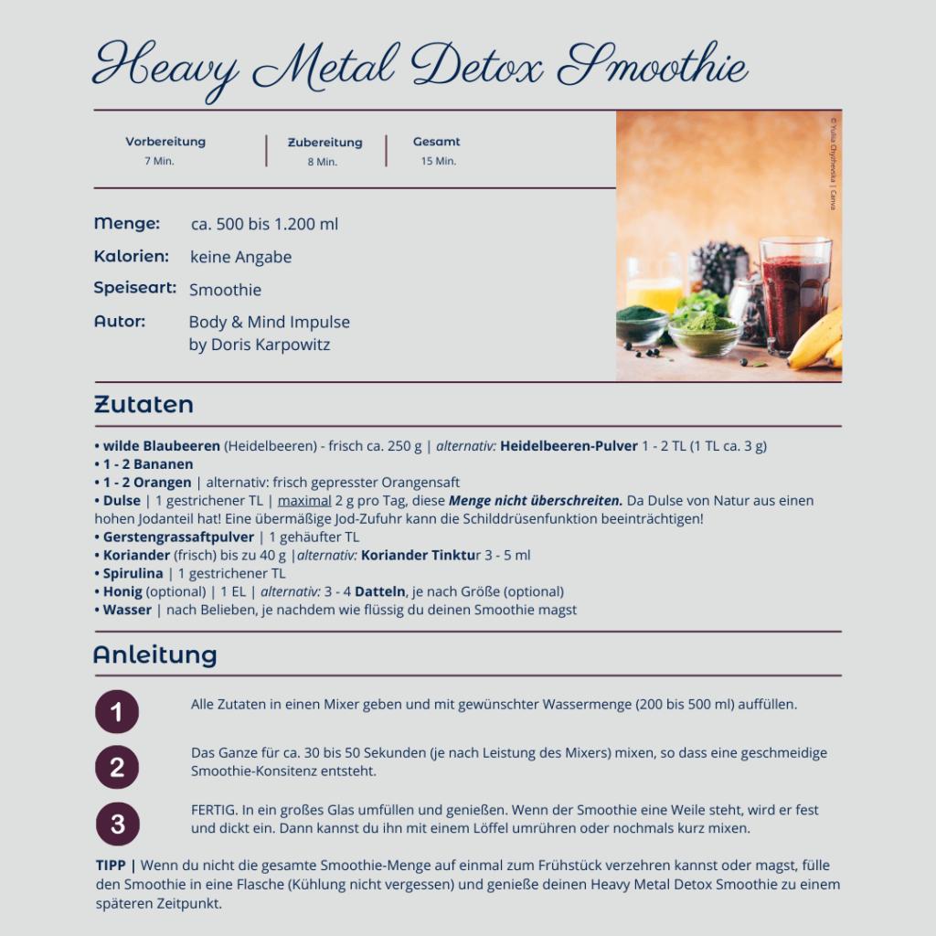 Rezept: Heavy Metal DETOX Smoothie