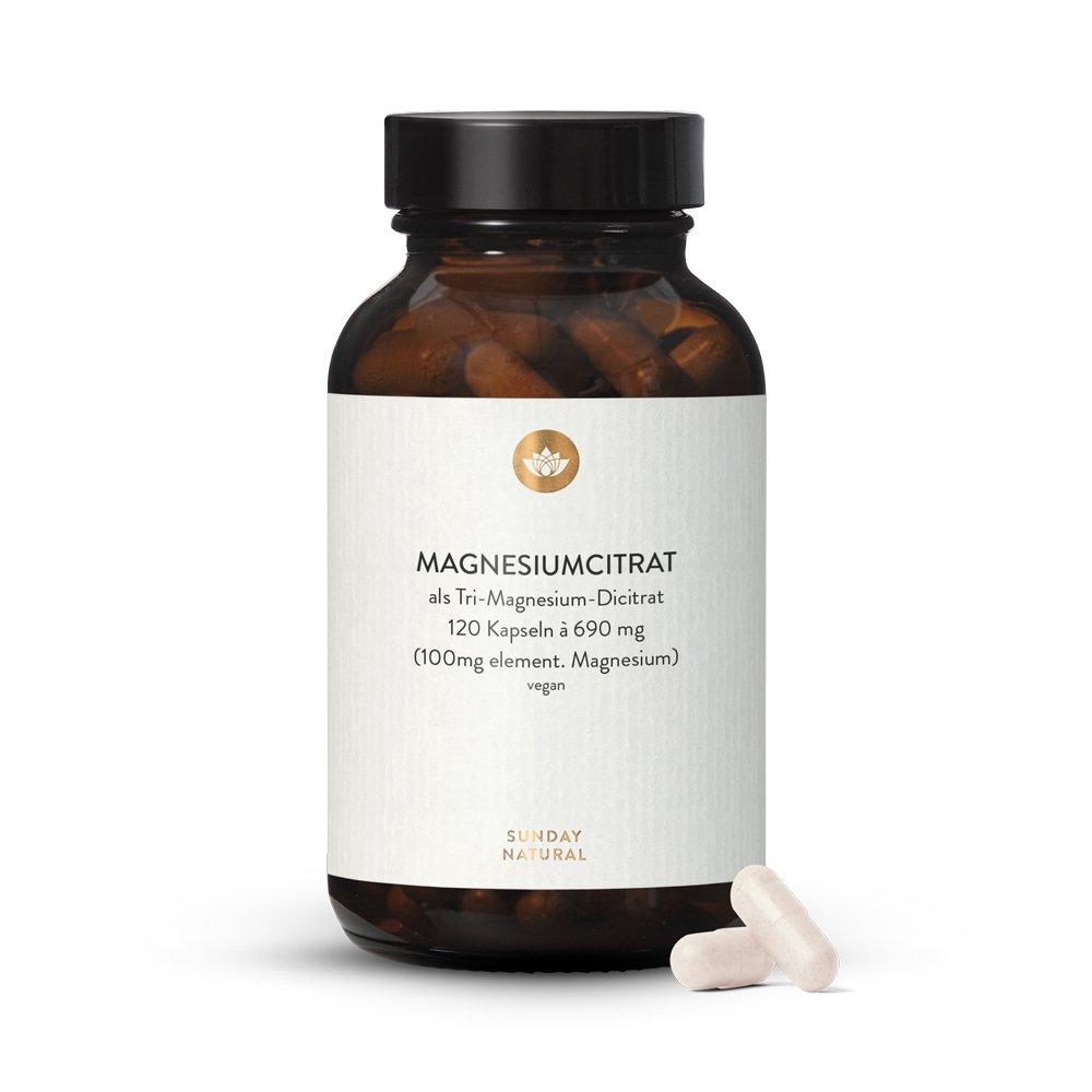 Magnesium-Citrat-Kapseln-Sunday Natural